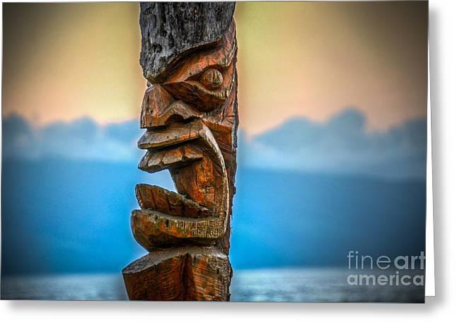 Greeting Card featuring the photograph Ka'anapali Tiki by Kelly Wade