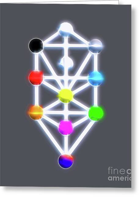 Kabbalah By Raphael Terra Greeting Card by Raphael Terra