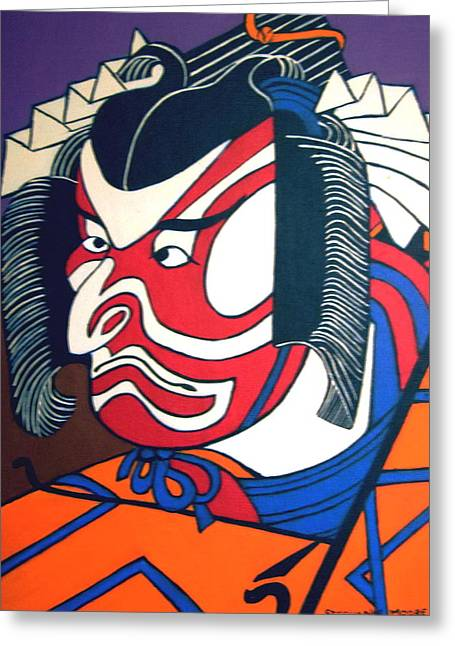 Kabuki Actor Greeting Card by Stephanie Moore