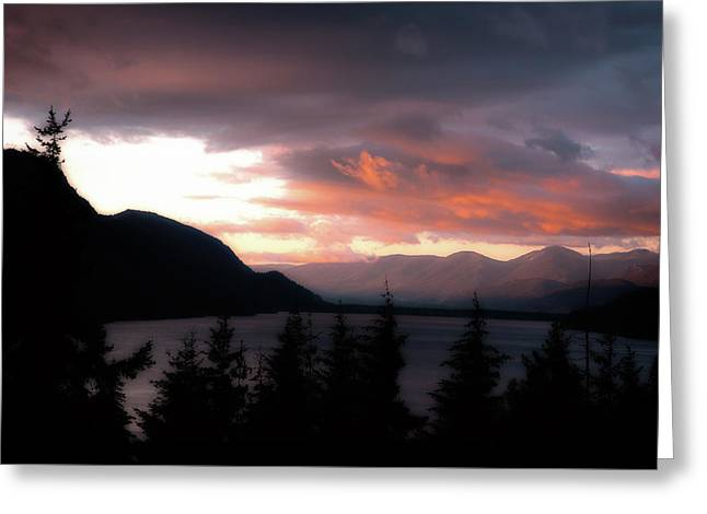 Kachess Lake Greeting Card by Matthew Ahola