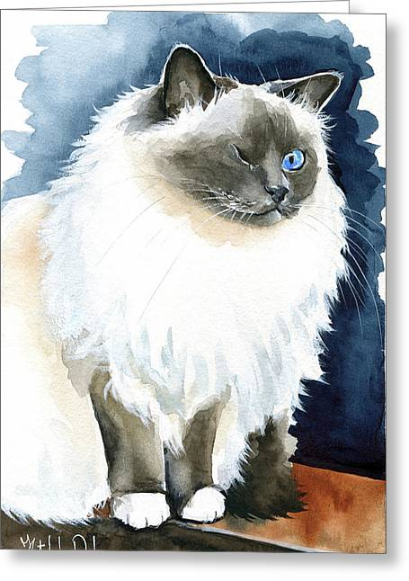 Kadife - Birman Cat Painting Greeting Card