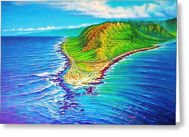 Kaena Point Refractions Greeting Card