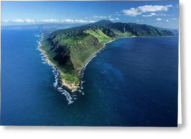 Kaena Point Greeting Card by Sean Davey