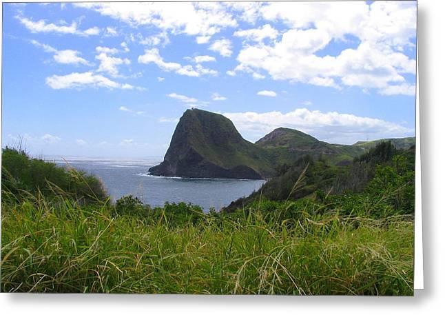 Greeting Card featuring the photograph Kahakuloa Point- Island Dreaming II by Diane Merkle