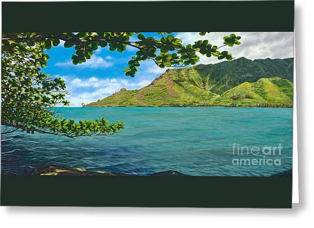 Kahana Bay Splendor Greeting Card by Pati O'Neal