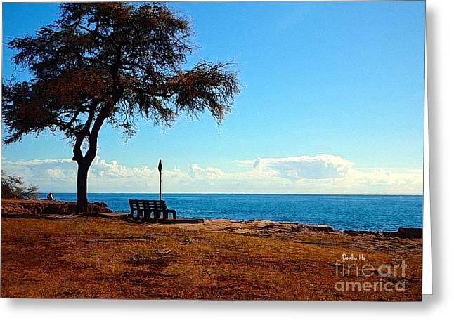 Kahe Point Beach Park Greeting Card