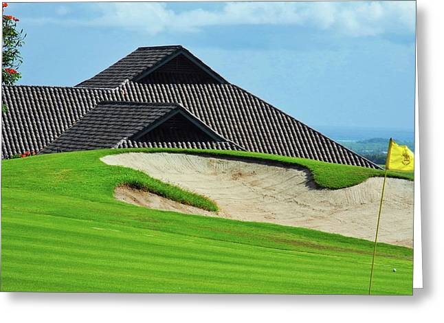 Kahili Golf Course Green Greeting Card by Kirsten Giving