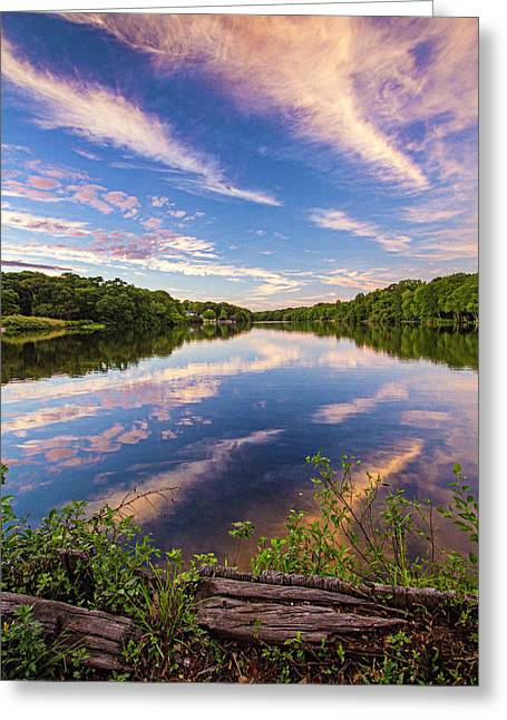 Kahler's Pond Clouds Greeting Card