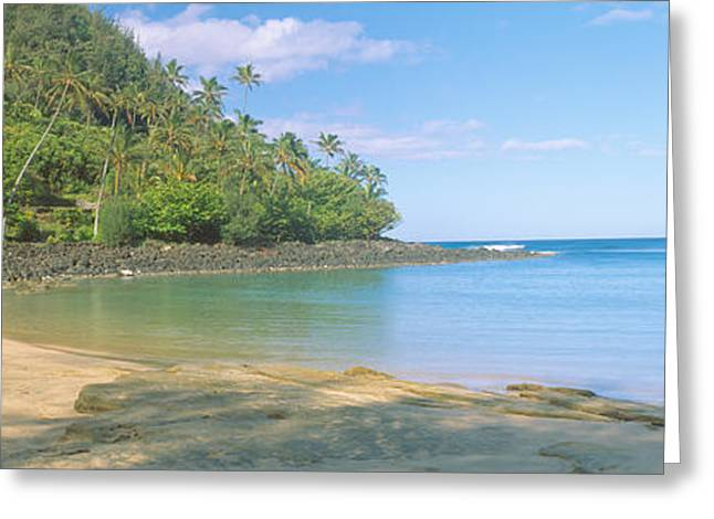Kailio Beach In Haena State Park, Na Greeting Card by Panoramic Images