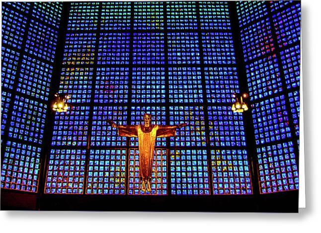 Kaiser Wilhelm Memorial Church, Berlin, Germany Greeting Card by Wayne Higgs