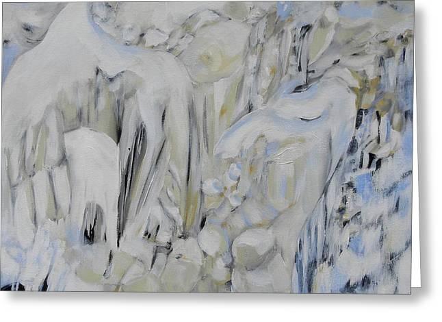 Kakabeka Falls Frozen 1 Greeting Card by Patricia Bigelow