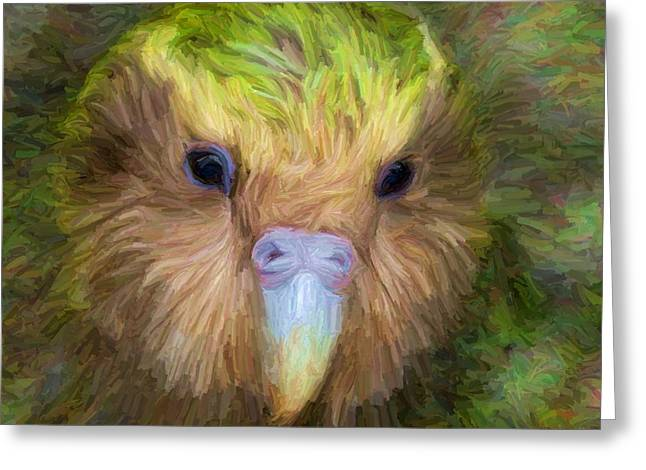 Kakapo Greeting Card