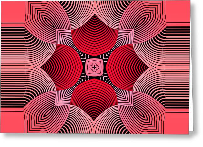 Greeting Card featuring the digital art Kal - 36c77 by Variance Collections