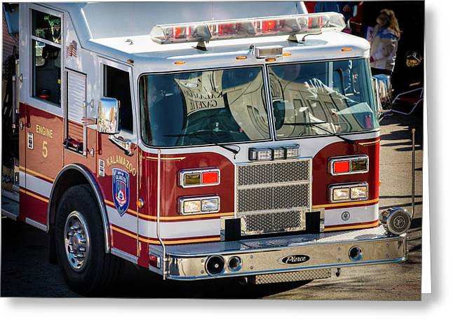 Kalamazoo Engine 5 Greeting Card