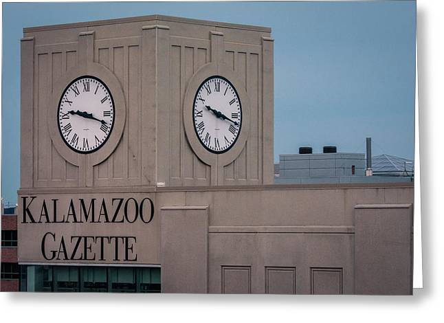 Kalamazoo Gazette Clock Tower Greeting Card