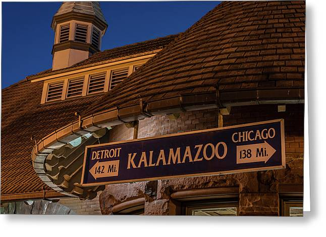 Kalamazoo Transportation Center Greeting Card