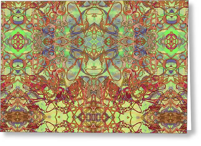 Kaleid Abstract Tapestry Greeting Card