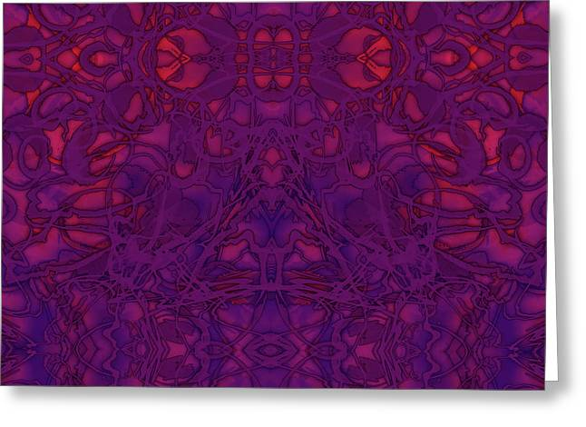 Kaleid Abstract Vision Greeting Card