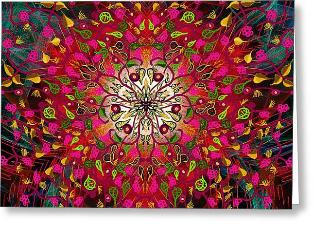 Kaleidoflower#7 Greeting Card