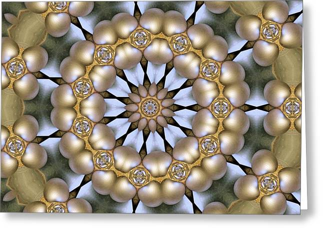 Greeting Card featuring the digital art Kaleidoscope 130 by Ron Bissett