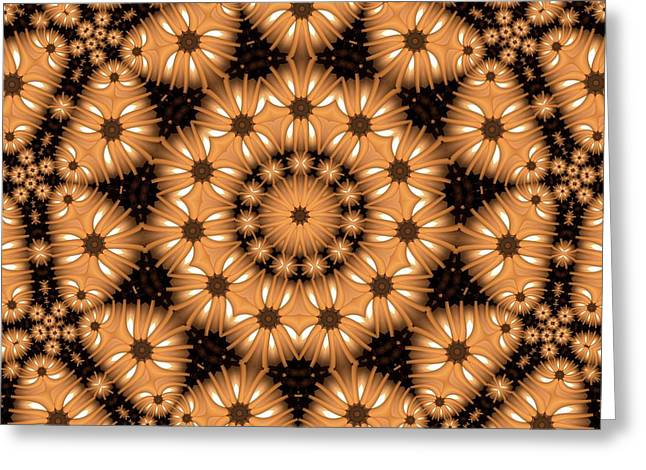 Greeting Card featuring the digital art Kaleidoscope 131 by Ron Bissett