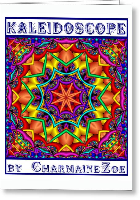 Greeting Card featuring the digital art Kaleidoscope 2 by Charmaine Zoe