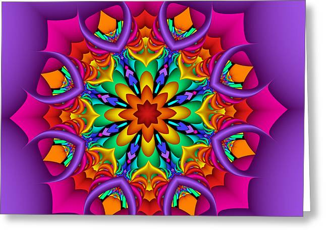 Kaleidoscope Flower 01 Greeting Card