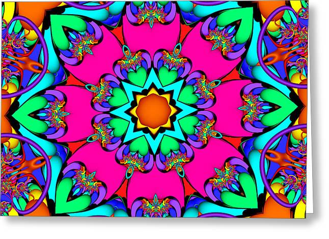 Kaleidoscope Flower 03 Greeting Card