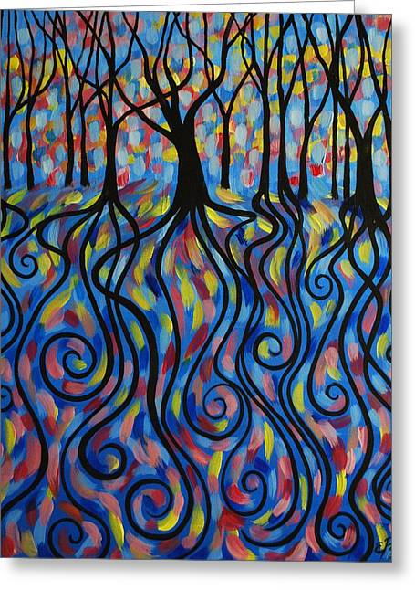 Kaleidoscope Forest Greeting Card