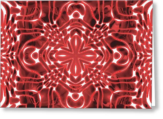 Kaleidoscope Gaze Greeting Card by Haleema Minhas