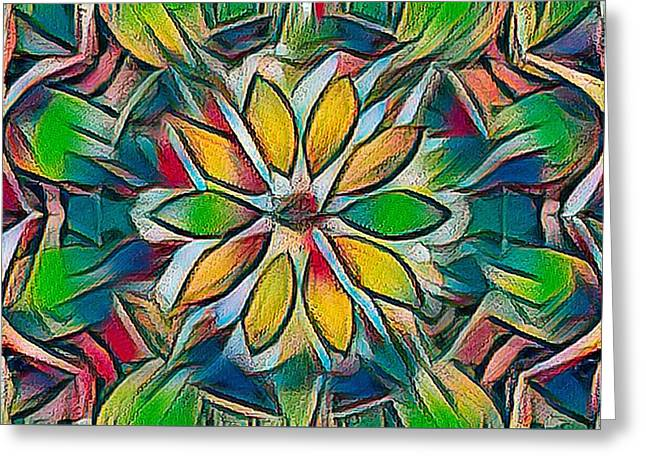 Kaleidoscope In Stained Glass Greeting Card
