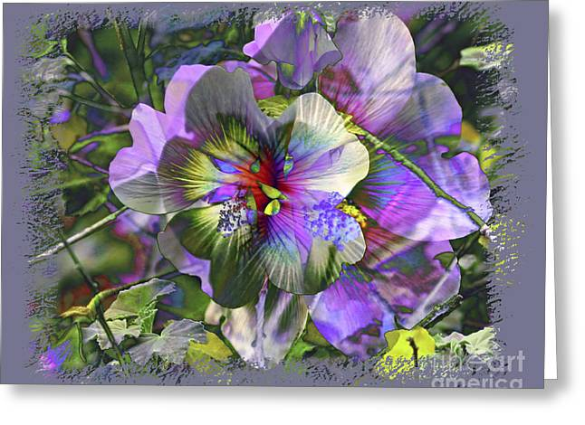 Kaleidoscope Pollen Greeting Card by Chuck Brittenham