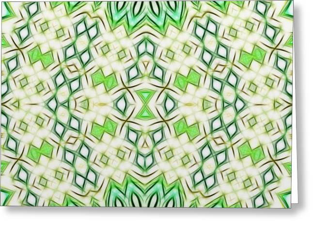 Kaleidoscope With A Tribal Flair Greeting Card