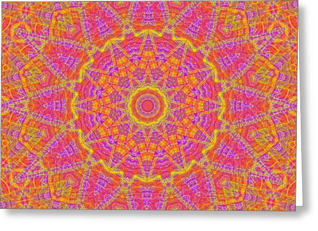 Kaleidoscopic Volpiana 1  Greeting Card