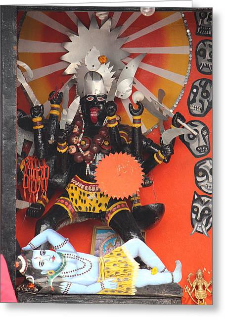 Kali Ma, Rishikesh Greeting Card by Jennifer Mazzucco