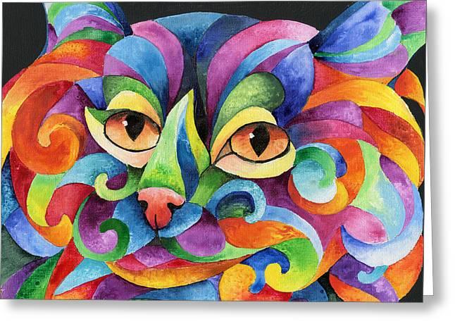 Kalidocat Greeting Card by Sherry Shipley