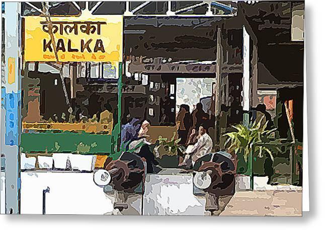 Kalka Railway Station Greeting Card by Padamvir Singh