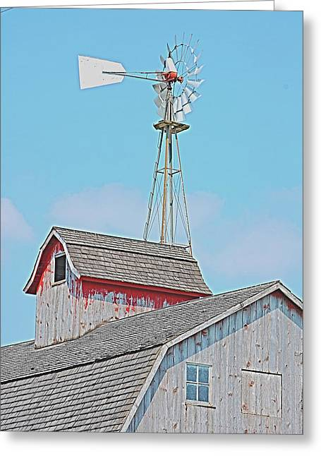 Kalona Barn Greeting Card by Jame Hayes
