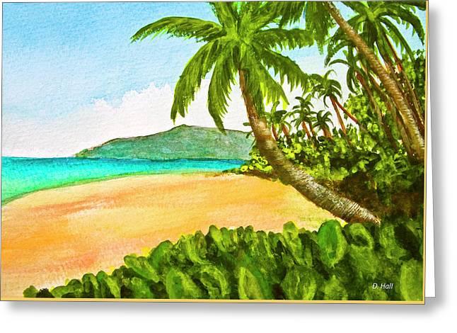 Kamaole Beach Maui Hawaii Art Painting #349 Greeting Card by Donald k Hall