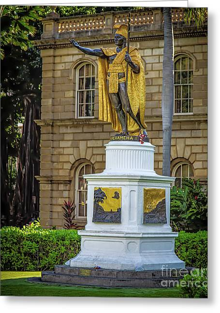 Kamehameha The Great Greeting Card by Jon Burch Photography