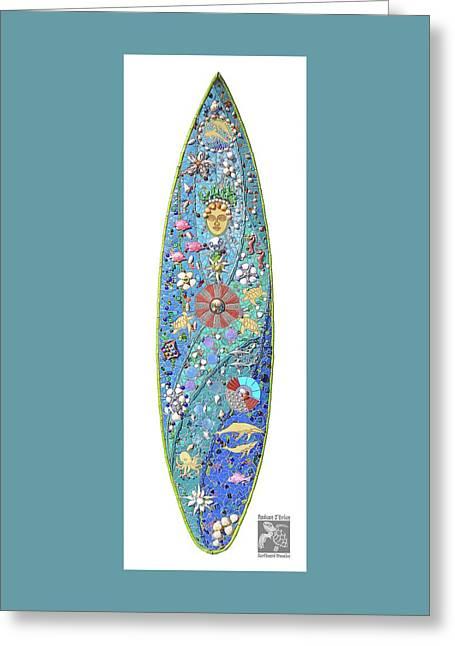 Kanaloa Hawaiian Sea God Greeting Card