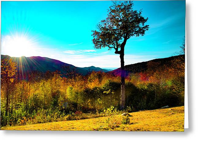 Kancamagus Sunset Greeting Card