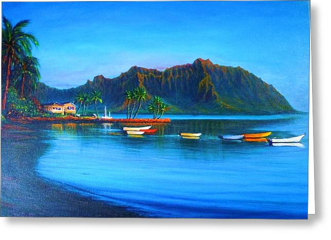 Kaneohe Bay - Early Morning Glass Greeting Card