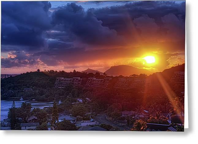 Kaneohe Sunrise Greeting Card
