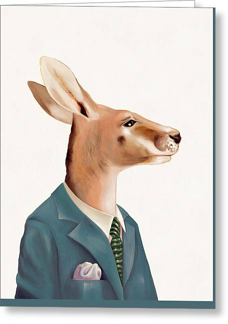 Kangaroo Greeting Card by Animal Crew