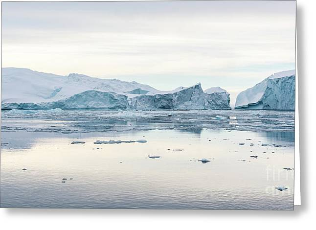 Kangia Icefjord Greeting Card by Janet Burdon
