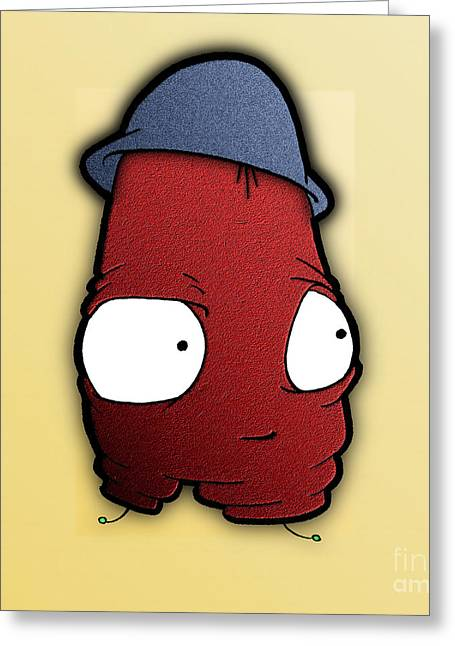 Greeting Card featuring the digital art Kangol Kool by Uncle J's Monsters
