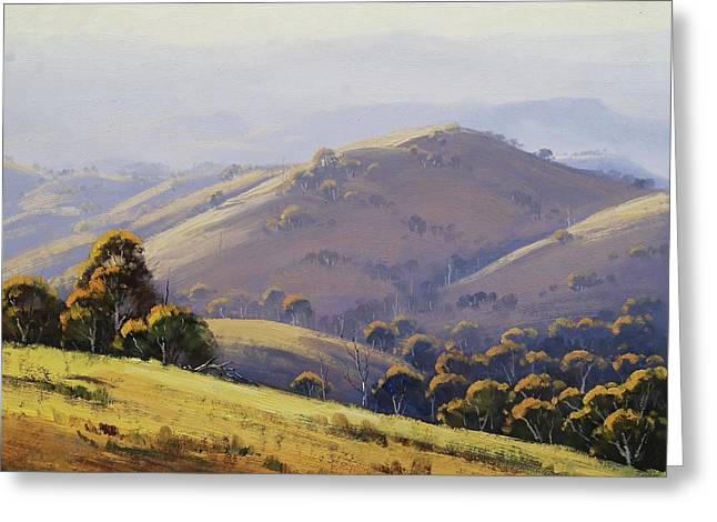 Kanimbla Hillscape, Australia Greeting Card by Graham Gercken