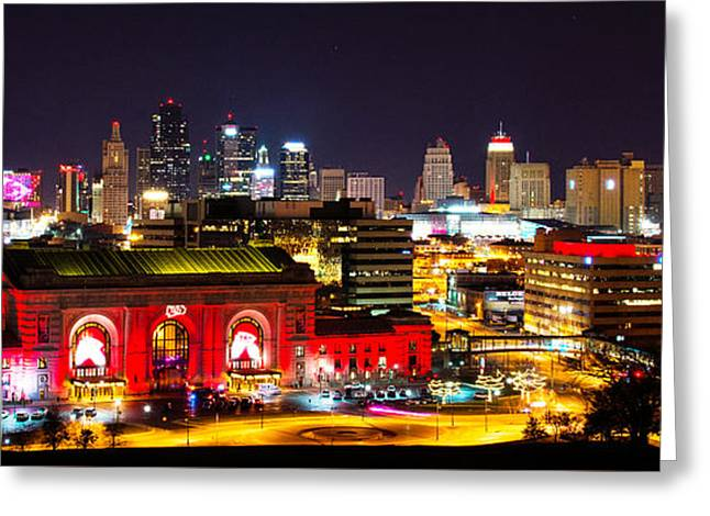 Kansas City Celebrates The Chiefs Greeting Card by Jean Hutchison