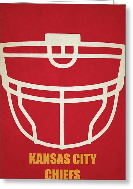 Kansas City Chiefs Helmet Art Greeting Card